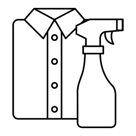 camisa y ropa de lavandería de lavandería ilustración vectorial de diseño