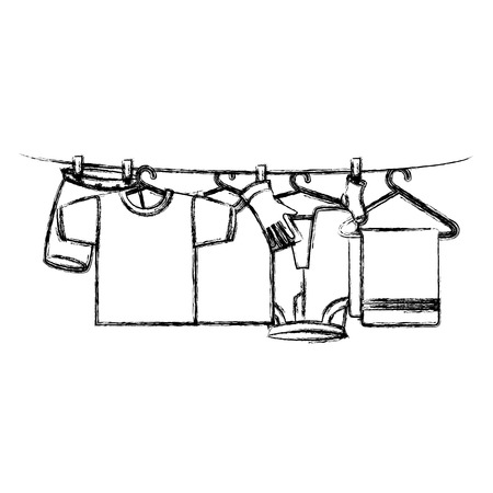 clothes drying on wire vector illustration design 版權商用圖片 - 104046855