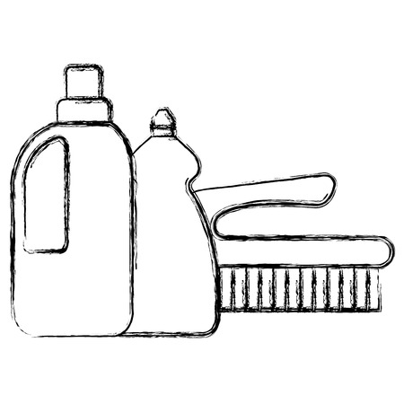 laundry and housekeeping products vector illustration design Ilustração