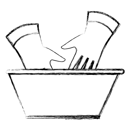 laundry plastic pot with water vector illustration design Illustration