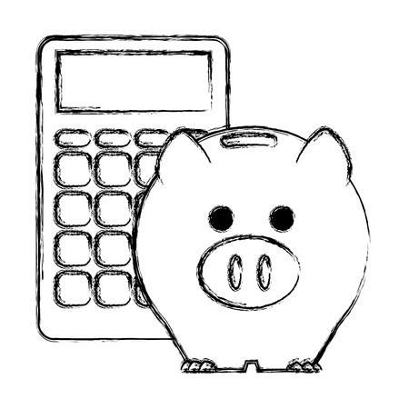piggy savings economy icons vector illustration design 스톡 콘텐츠 - 104082008