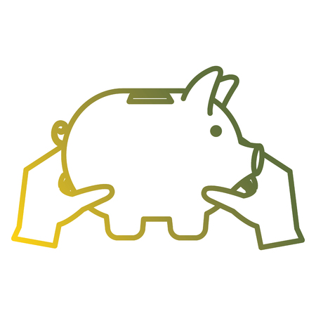 piggy savings economy icons vector illustration design 스톡 콘텐츠 - 104082208