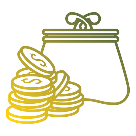 coins money with wallet vector illustration design  イラスト・ベクター素材