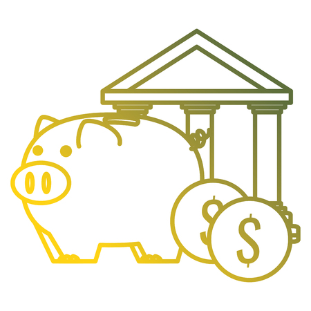 piggy savings economy icons vector illustration design