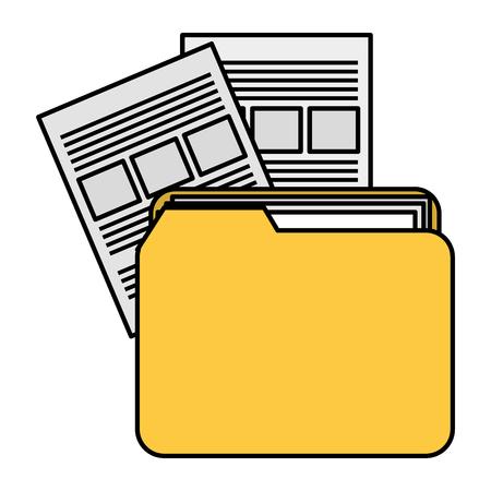 file folder with documents vector illustration design Imagens - 104105019