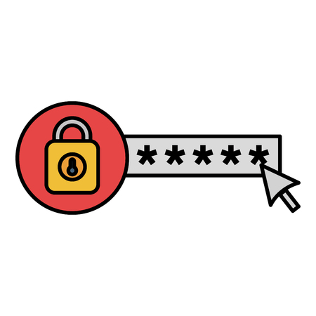 security password with padlock vector illustration design 스톡 콘텐츠 - 104105093