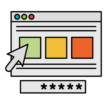 security password access template vector illustration design 向量圖像