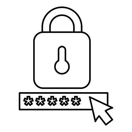 security password with padlock vector illustration design Foto de archivo - 104104640