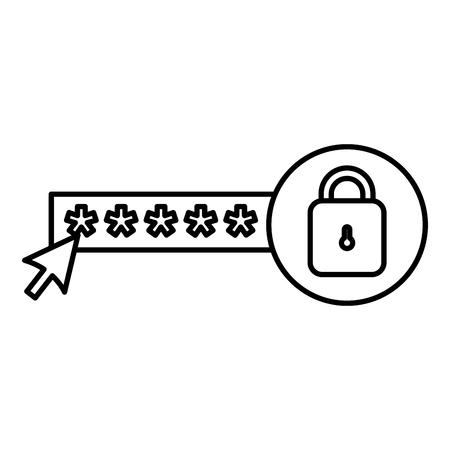 security password with padlock vector illustration design Standard-Bild - 104104638