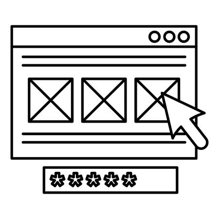 security password access template vector illustration design Foto de archivo - 104107449