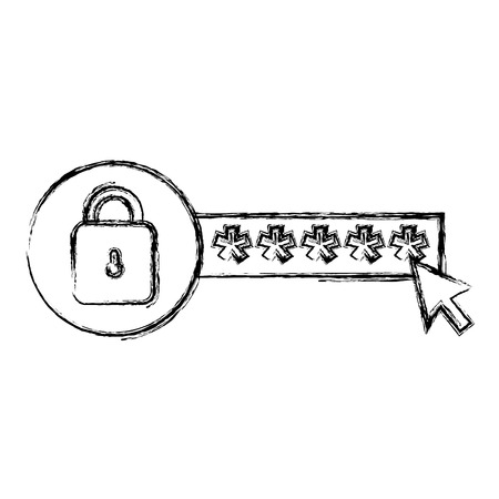 security password with padlock vector illustration design Archivio Fotografico - 104107496