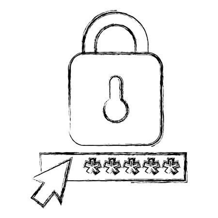 security password with padlock vector illustration design Foto de archivo - 104108058