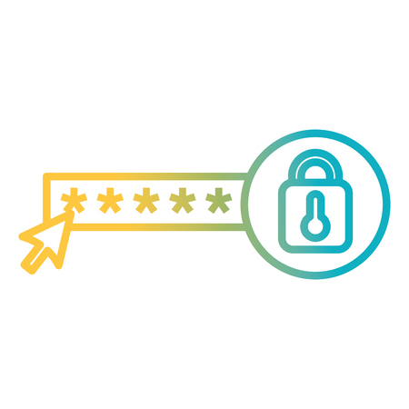 security password with padlock vector illustration design