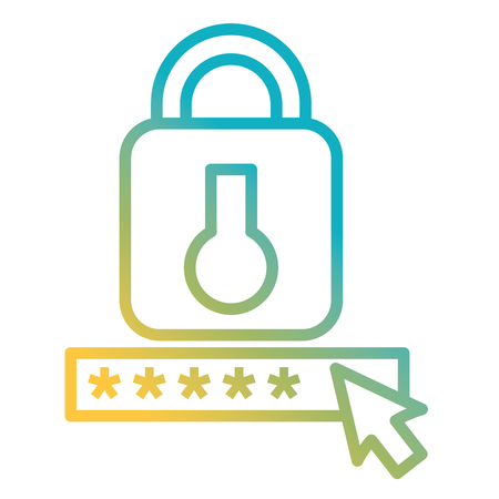 Sicherheitspasswort mit Vorhängeschloss Vektor-Illustration Design Vektorgrafik