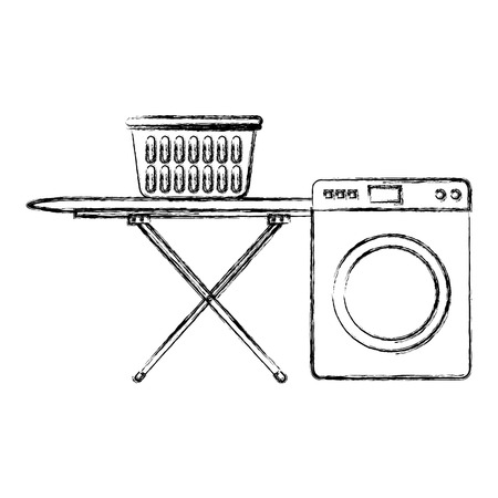 wash machine laundry service vector illustration design Ilustração