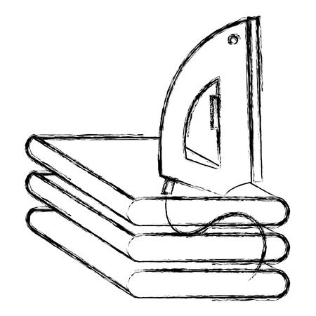 iron appliance laundry service vector illustration design Illustration