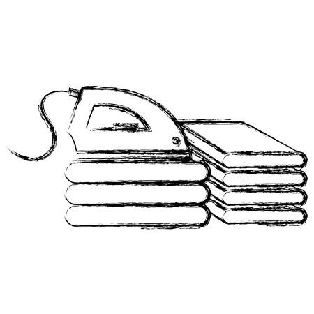 iron appliance laundry service vector illustration design  イラスト・ベクター素材