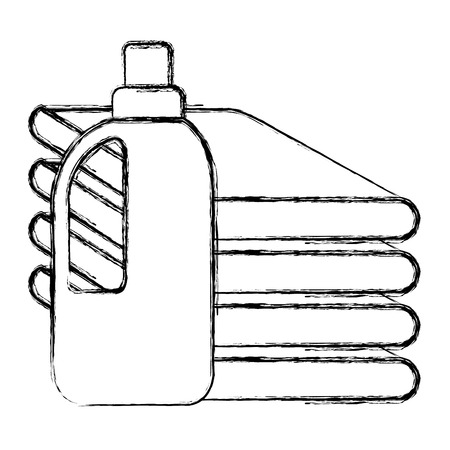 clothes folded with detergent bottle vector illustration design Illustration