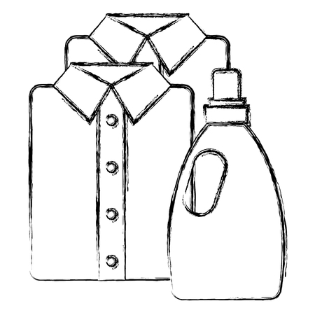 shirts and clothes laundry service vector illustration design Stock Vector - 104108413
