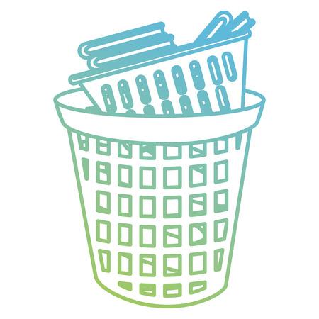 laundry service plastic bin vector illustration design Çizim