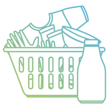 laundry service basket equipment vector illustration design Illustration
