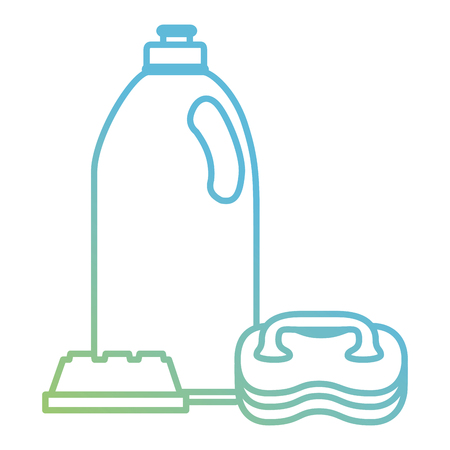 laundry and housekeeping products vector illustration design Stock Illustratie