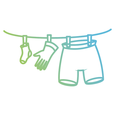 clothes drying on wire vector illustration design Illusztráció