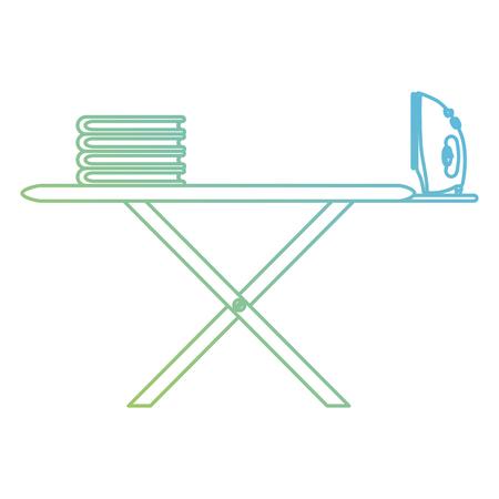 ironing board laundry service vector illustration design Illustration