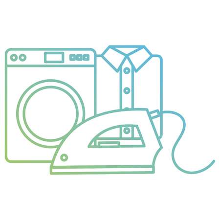 wash machine laundry service vector illustration design Illusztráció