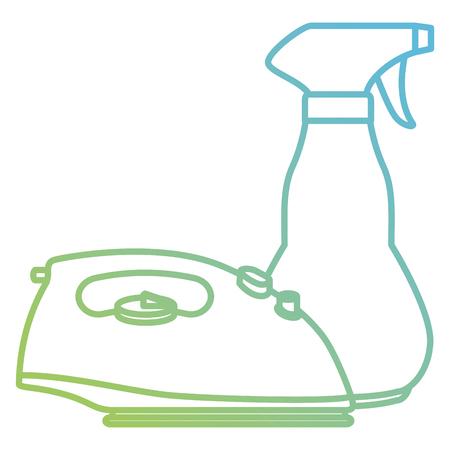 iron appliance laundry service vector illustration design Illusztráció