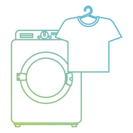 wash machine laundry service vector illustration design Stock Illustratie