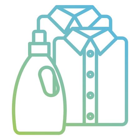 Servicio de lavandería de camisas y ropa, diseño de ilustraciones vectoriales Ilustración de vector