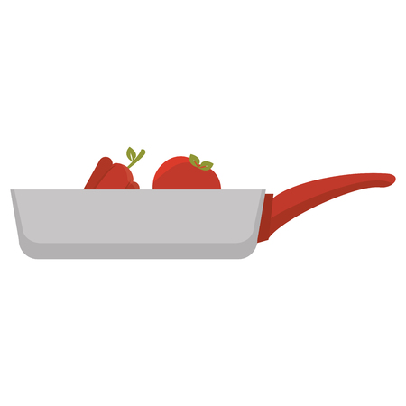 kitchen pan with vegetables icon vector illustration design