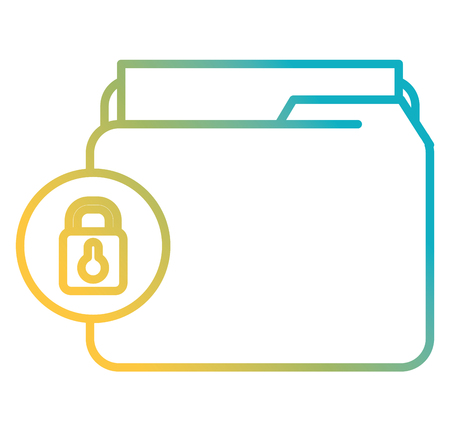 file folder with documents and padlock vector illustration design Banque d'images - 104110057