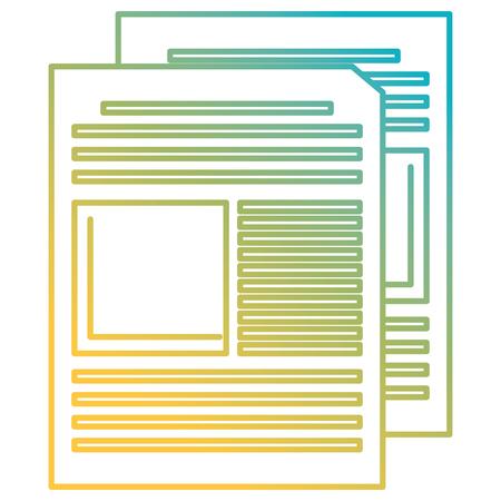 documents paper with statistics vector illustration design Illusztráció