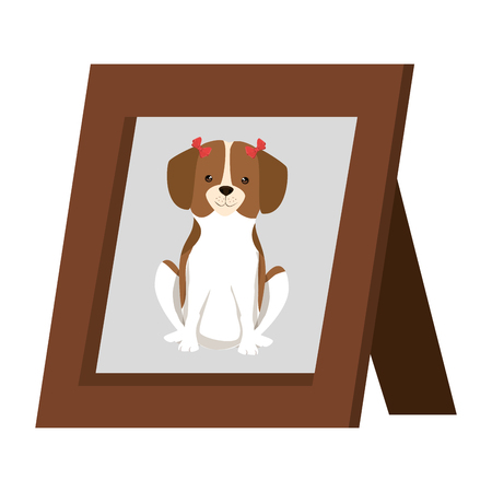 picture of cute dog in portrait vector illustration design