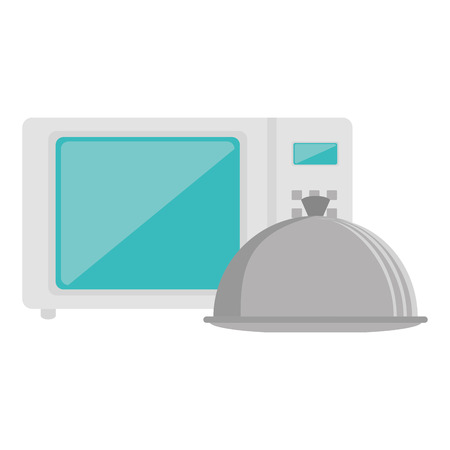 microwave oven with tray vector illustration design Imagens - 104110266