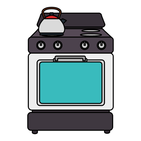 keuken oven toestel pictogram vector illustratie ontwerp