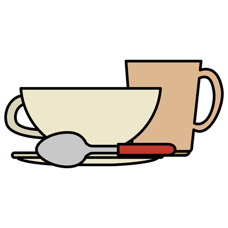 dishes and utensils icons vector illustration design