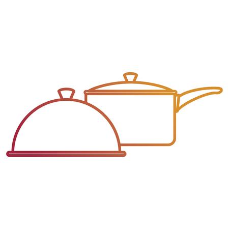 kitchenware utencils metal icons vector illustration design