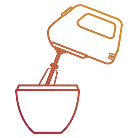 mixer electric appliance kitchen vector illustration design
