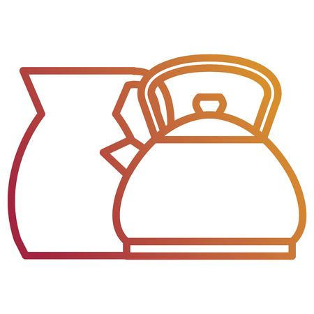 kitchenware utensils metal icons vector illustration design Illustration