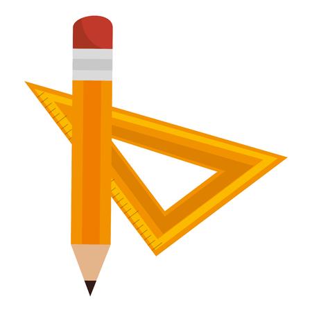 pencil and rule school vector illustration design Ilustrace