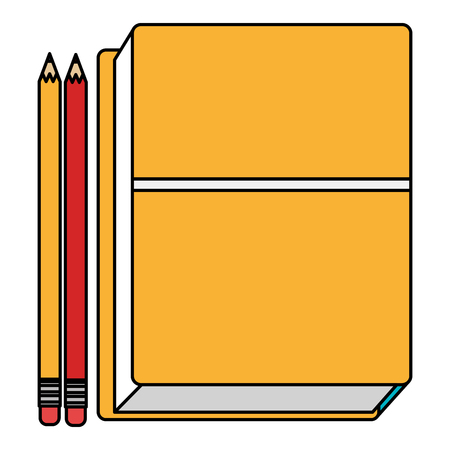 education text books with pencils vector illustration design Banque d'images - 104127277