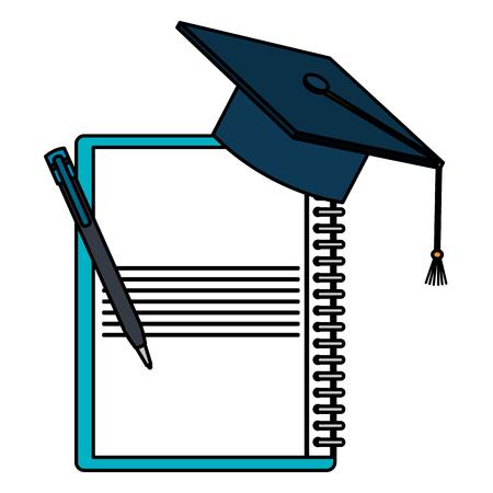 notebook school onderwijs pictogram vector illustratie ontwerp