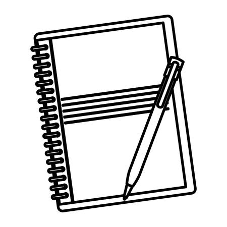 notebook school with pencil vector illustration design Ilustracja