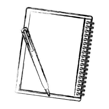 notebook school with pencil vector illustration design 向量圖像