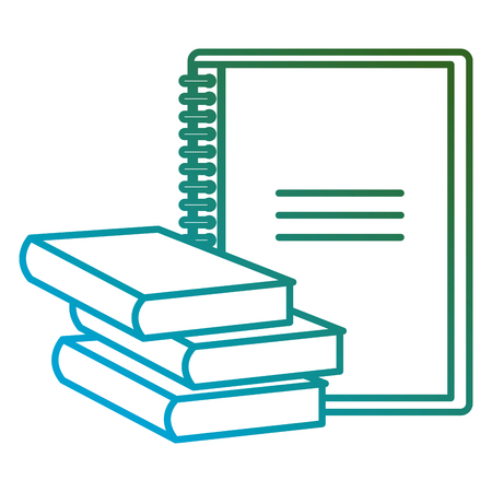 education text books with notebook vector illustration design