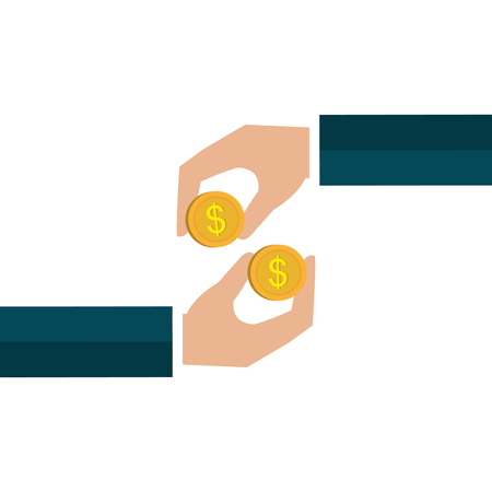 hand with money icon vector illustration design