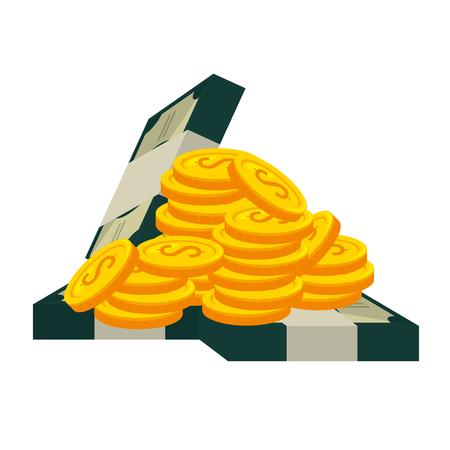 money dollars finance icons vector illustration design